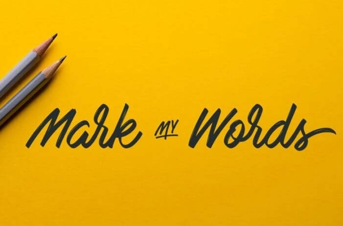 mark my word - Mark My Words Font Free Download