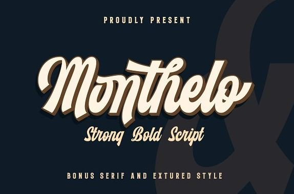 monthelo font - Monthelo Vintage Font Free Download