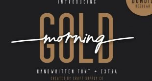 morning gold 310x165 - Morning Gold Handwritten Font Free Download