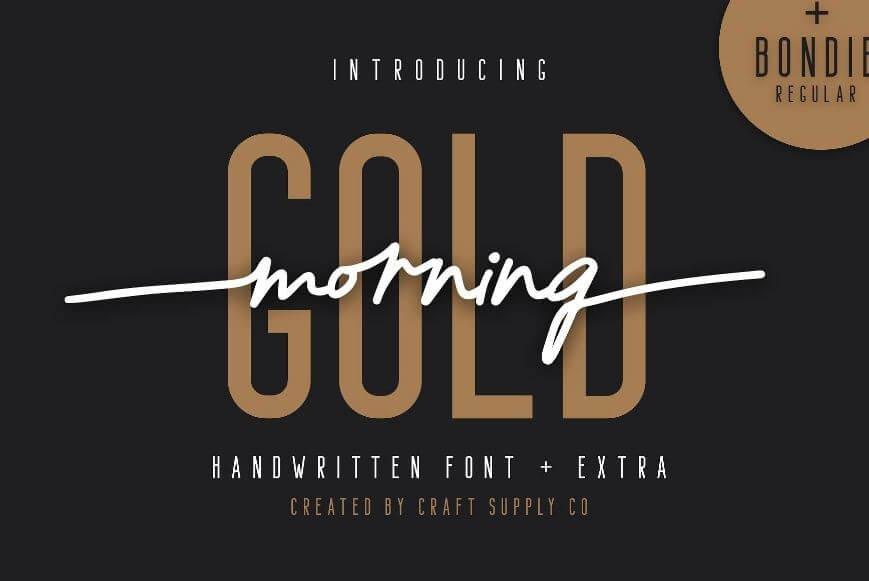 morning gold - Morning Gold Handwritten Font Free Download