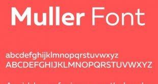 muller font 310x165 - Muller Font Free Download