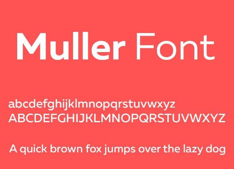 muller font - Muller Font Free Download