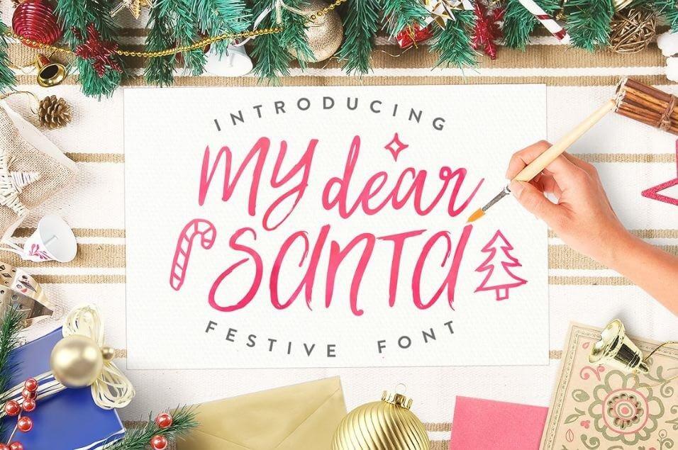 my dear santa font - My Dear Santa Script Font Free Download