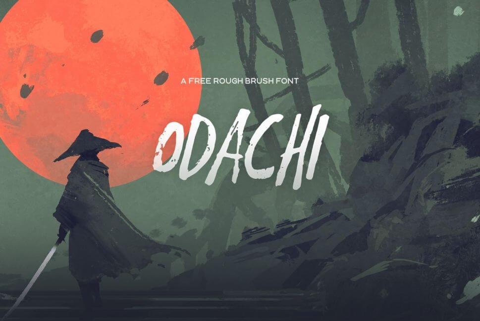 odachi font - Odachi Brush Font Free Download