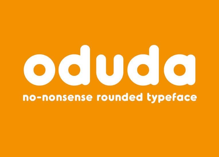 odudo font - Oduda Rounded Font Free Download