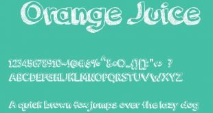 orange juice font 310x165 - Orange Juice Font Free Download