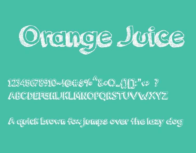 orange juice font - Orange Juice Font Free Download