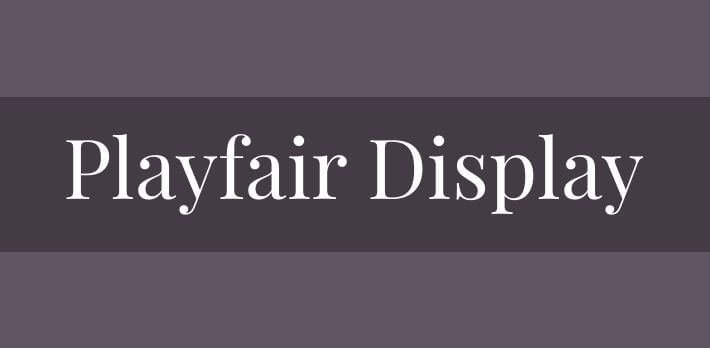 playfair display font - Playfair Display Font Free Download