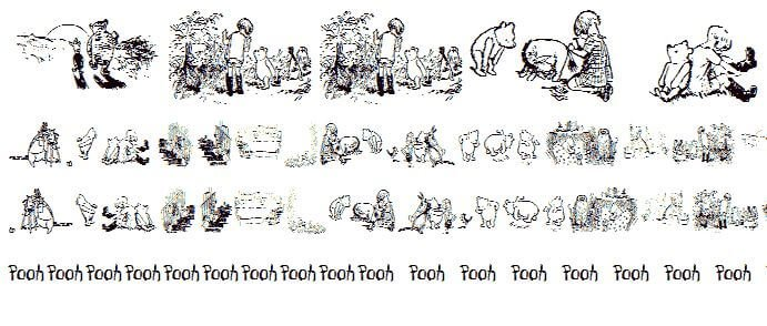 pooh font - Pooh Classic Dings Font Free Download