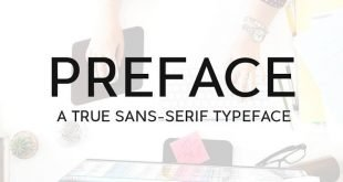 preface typeface 310x165 - Preface Sans-Serif Typeface Free Download