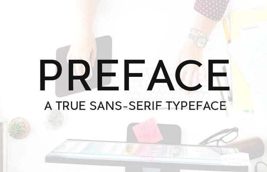 preface typeface - Preface Sans-Serif Typeface Free Download