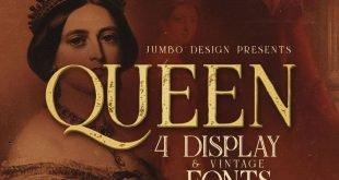 queen font 310x165 - Queen Display Font Free Download