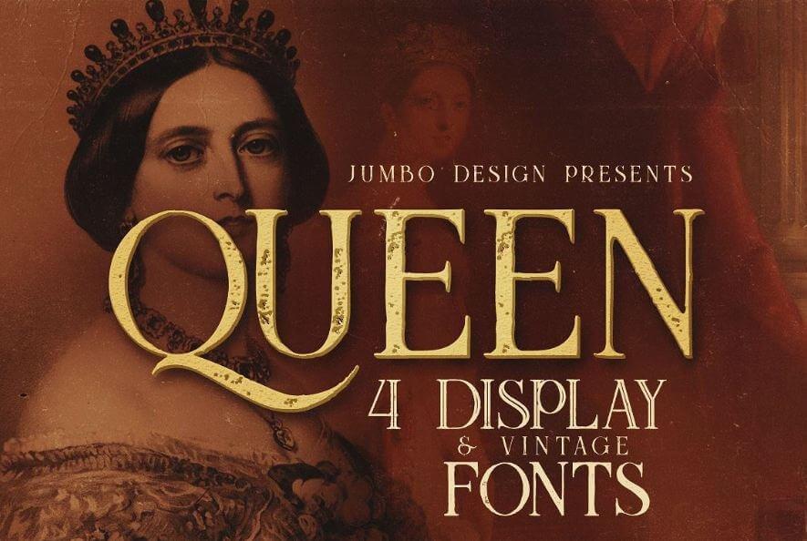 queen font - Queen Display Font Free Download