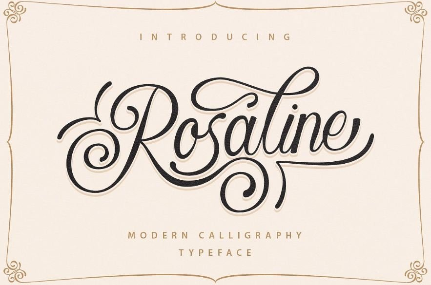 rosaline font - Rosaline Script Font Free Download