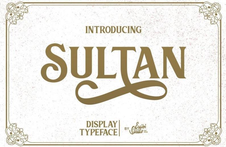 sultan font - Sultan Serif Font Free Download