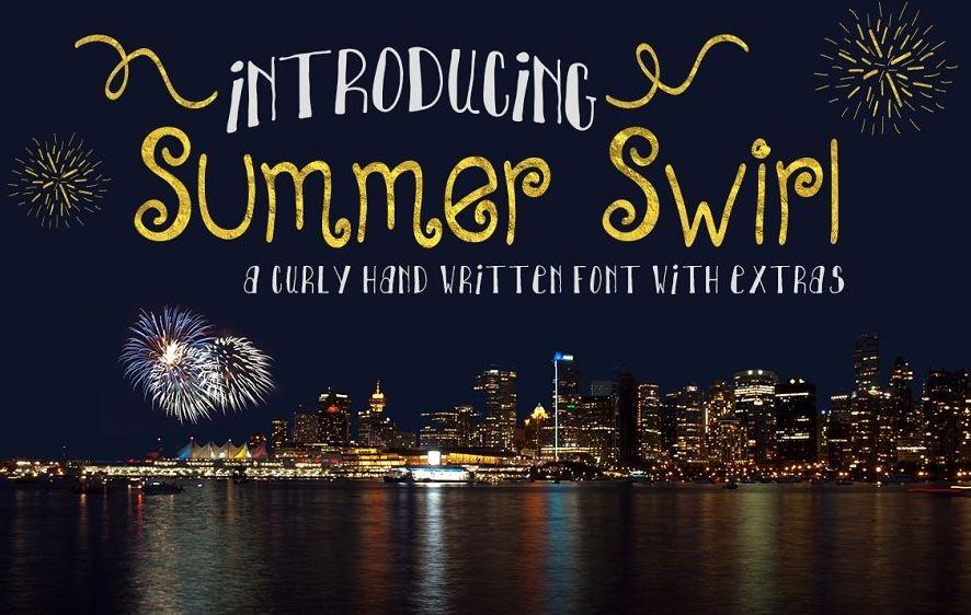 summer swirl font - Summer Swirl Font Free Download
