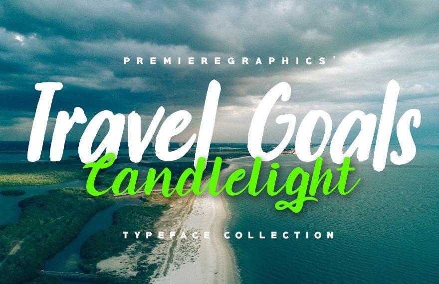travel goals font - Travel Goals Script Font Free Download