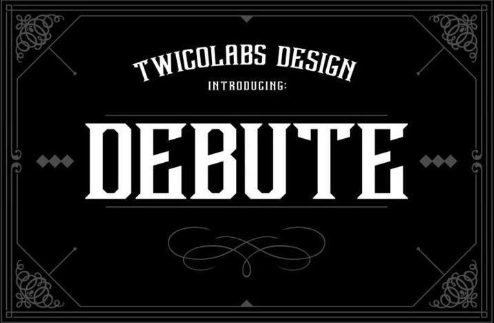 Debute font - Debute Font Free Download