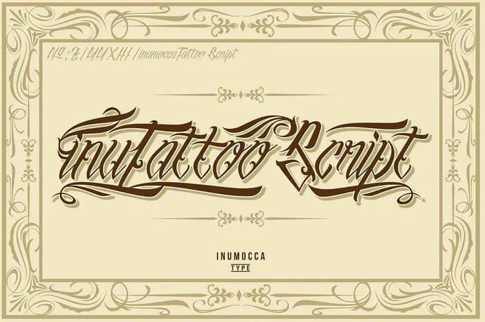 Inutatto font - Inumocca Tattoo Script Font Free Download