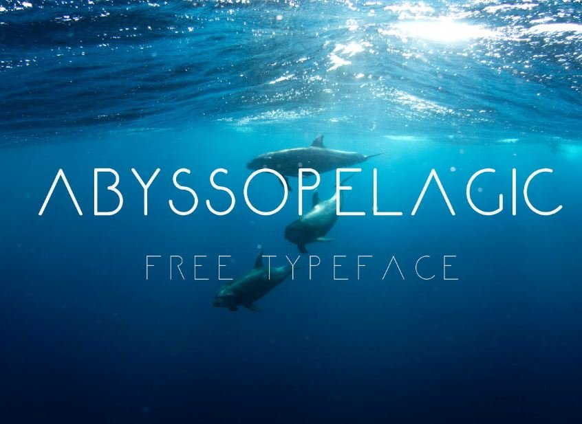 abyssolica font - Abyssopelagic Font Free Download