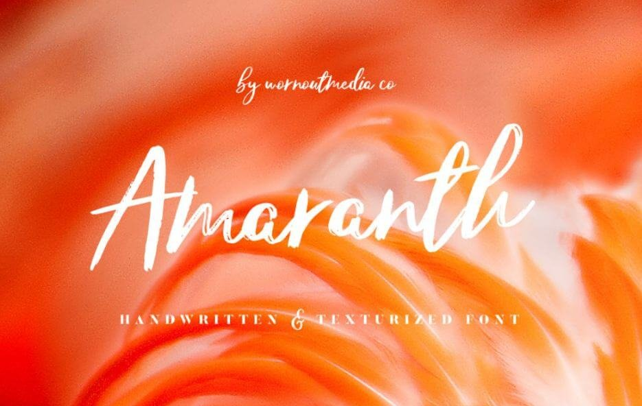amaranth font - Amaranth Handwritten Font Free Download