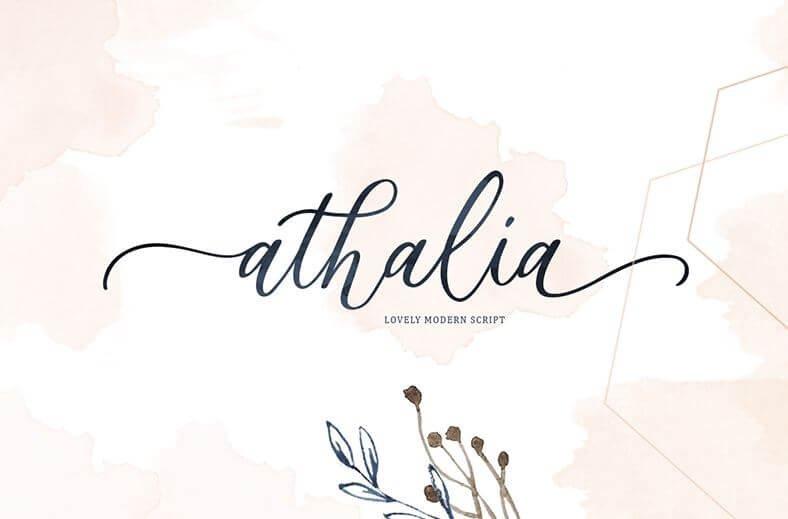 athalia font - Athalia Script Font Free Download