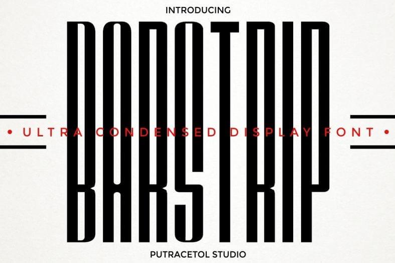 bar strip font - Barstrip Ultra Condensed Font Free Download