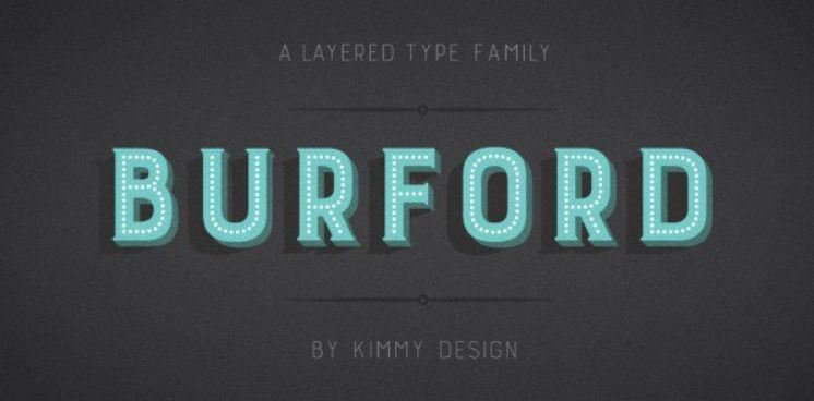 burford font - Burford Marquee Font Free Download