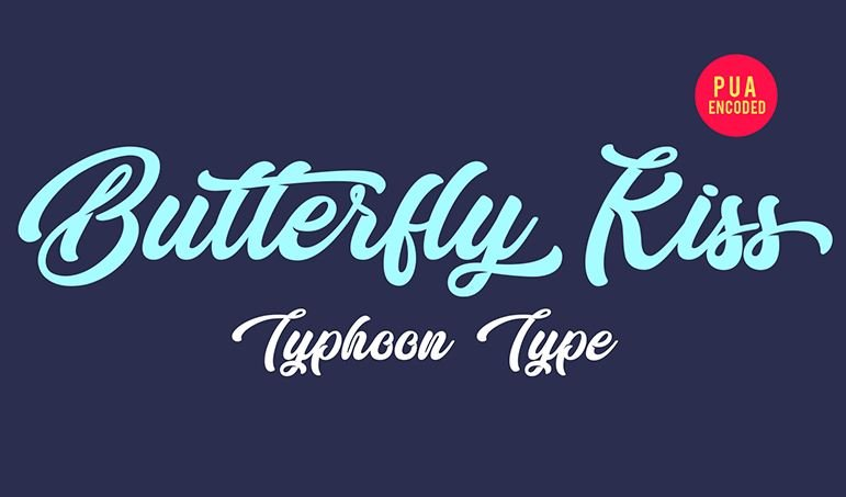 butterfly kiss font - Butterfly Kiss Font Free Download