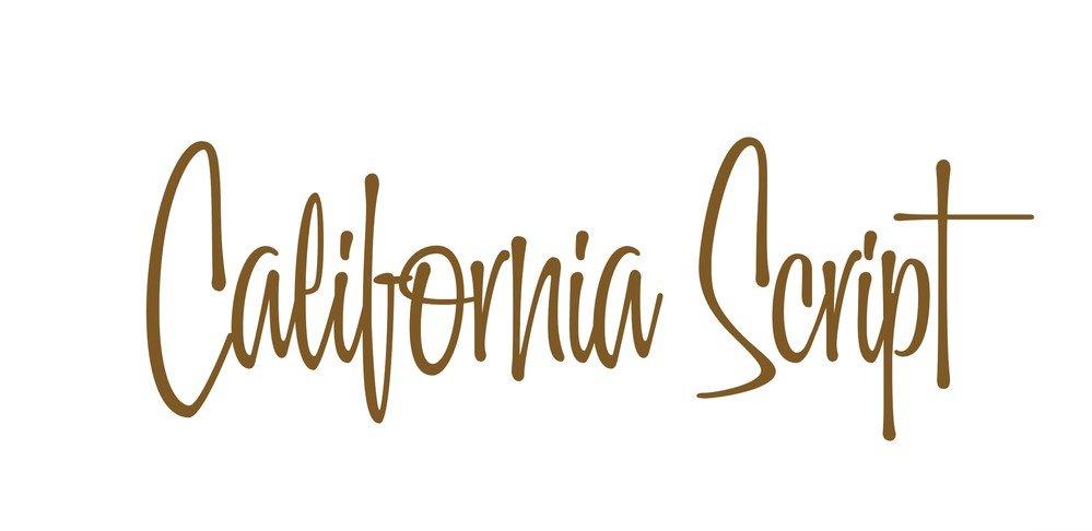 california script font - California Script Font Free Download