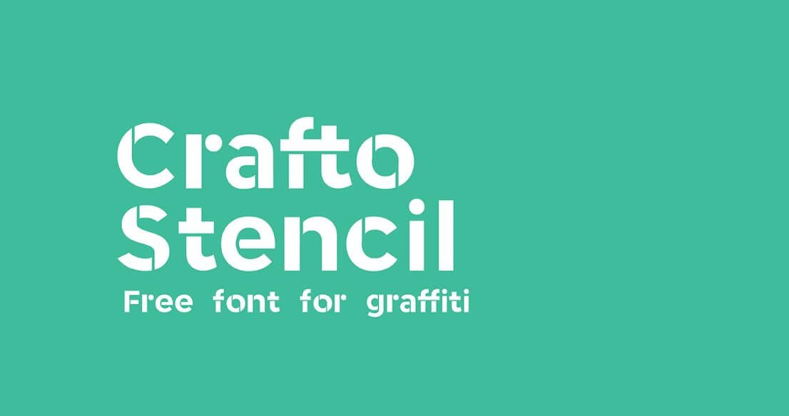 carfto stencil font - Crafto Stencil Typeface Free Download
