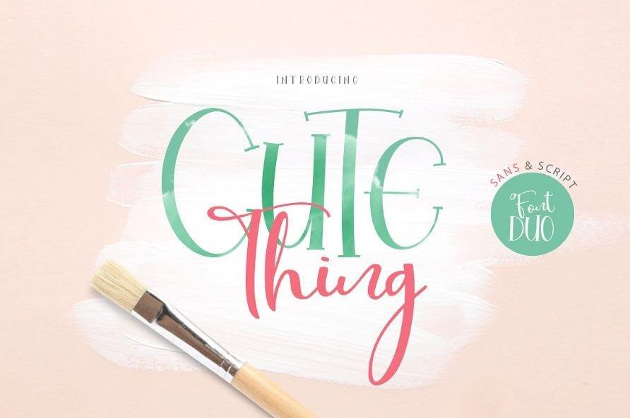 cute thing dou font - Cute Thing Font Duo Free Download
