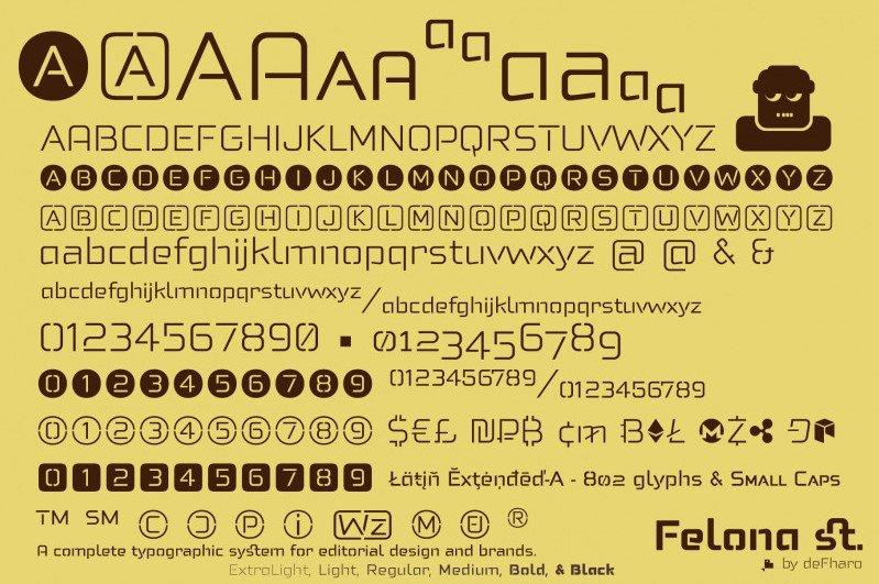 felona st font - Felona st. Neo Stencil Font Free Download