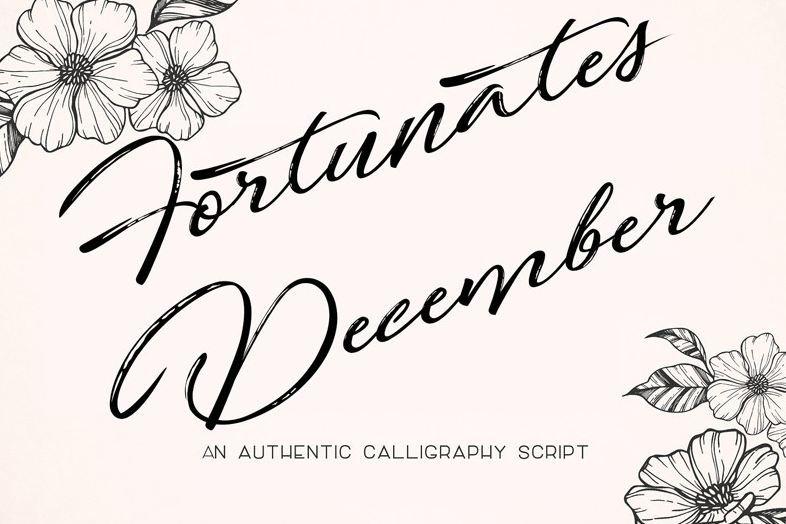 fortunates december font - Fortunates December Font Free Download