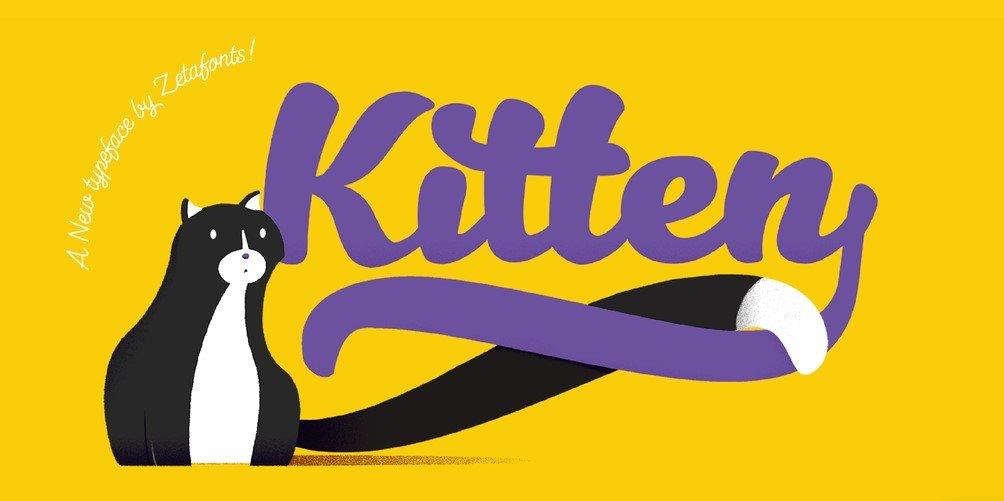 kitten font - Kitten Font Free Download