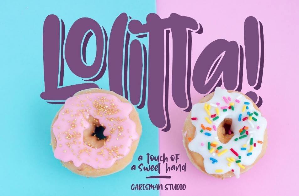 lollita font - Lolitta Fun Display Font Free Download