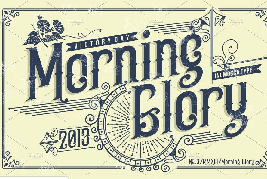 morning glory font - Morning Glory Font Free Download
