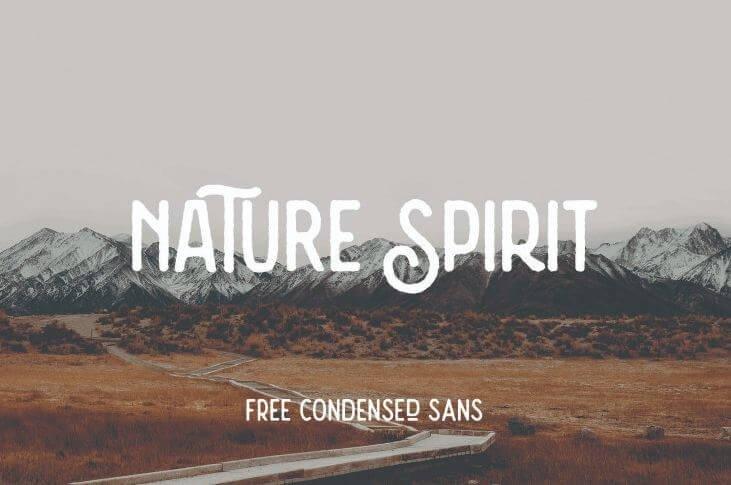nature spirit font - Nature Spirit Vintage Font Free Download