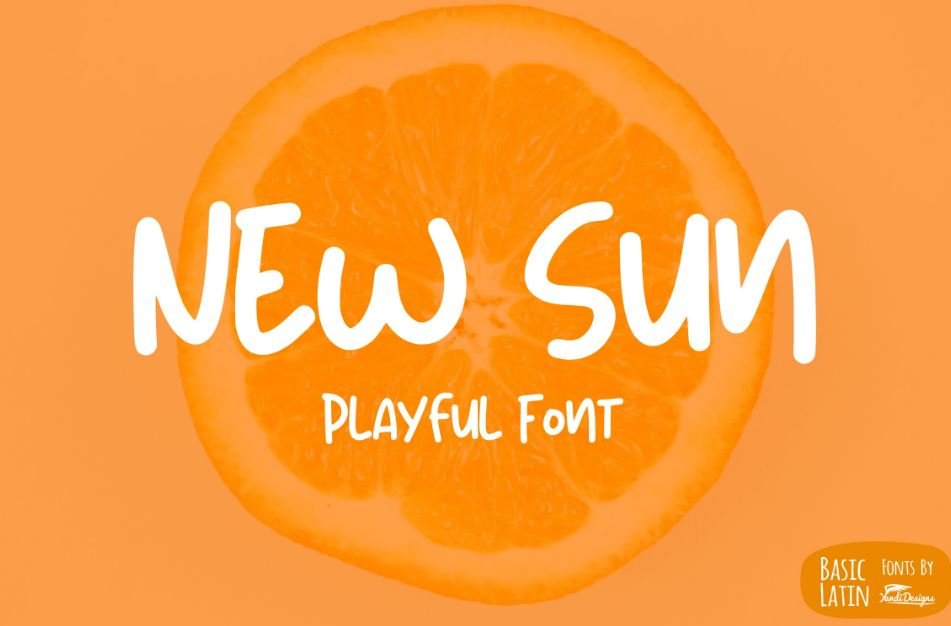 new sun fpnt - New Sun Playful Font Free Download