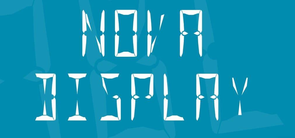 nova display - Nova Display Font Free Download