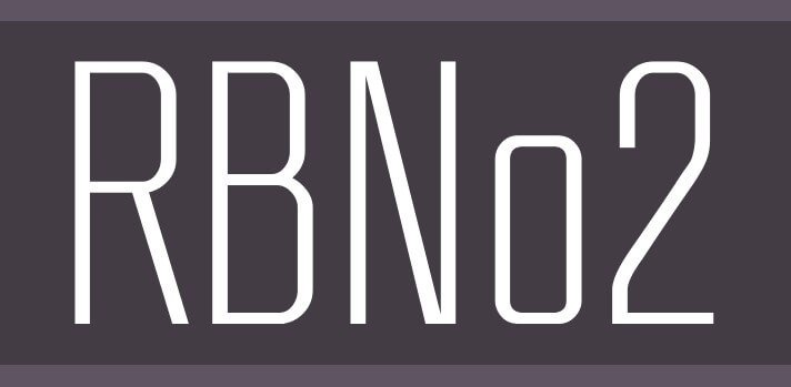 rbno2 - RBNo2 Font Free Download