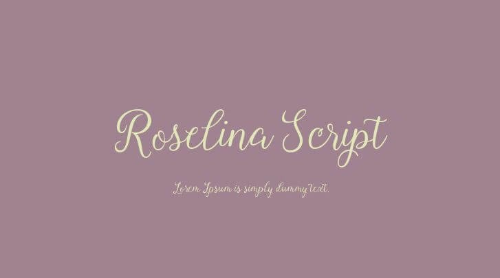 roselina font - Roselina Script Font Free Download