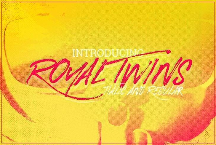 royal twins font - Royal Twins Brush Font Free Download