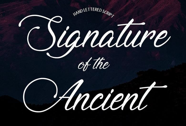 signature of the ancient font - Signature of the Ancient Font Free Download