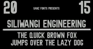siliwangi engineering font 310x165 - Siliwangi Engineering Font Free Download