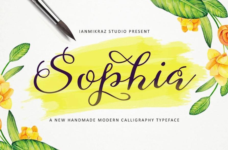 sophia font - Sophia Script Font Free Download