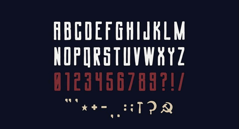soverine typeface - Soviet League Typeface Free Download