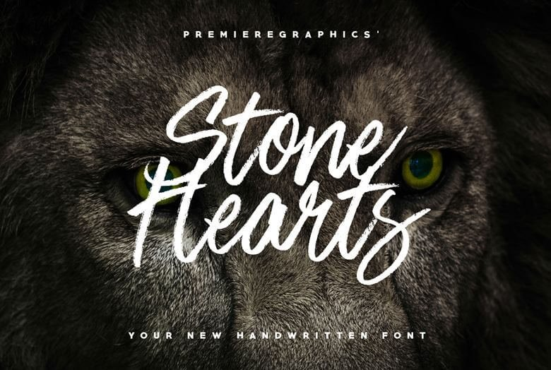stone heart font - Stone Hearts Brush Font Free Download