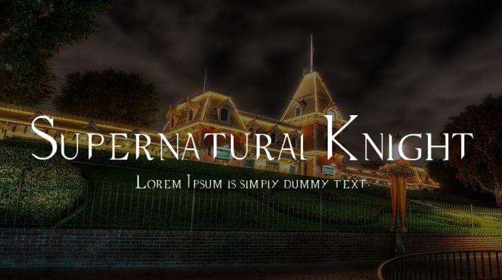 supernatural font - Supernatural Knight Font Free Download