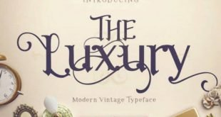 the luxury font 310x165 - The Luxury Font Free Download
